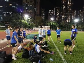 九龍城區體育會女子足球隊訓練如常進行中