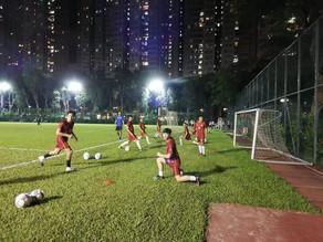 賽前準備-九龍城區體育會乙組第二場友誼賽