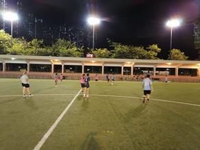 九龍城區體育會女子足球隊-恆常訓練進行中