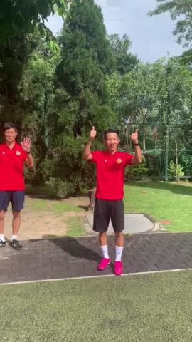 九龍城區體育會足球隊開操禮即將進行