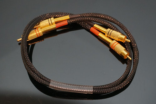 Audio Interconnect High-End Cable Rca- Rca 0.5m New - low capacitance UK made