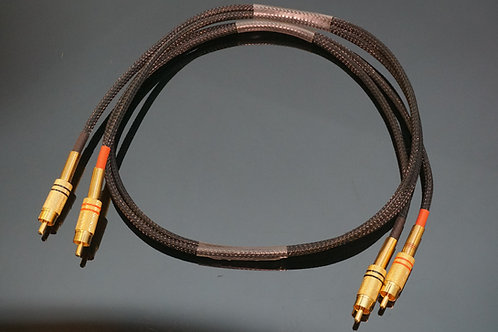 Audio Interconnect High-End Cable Rca- Rca 1m New - low capacitance UK made