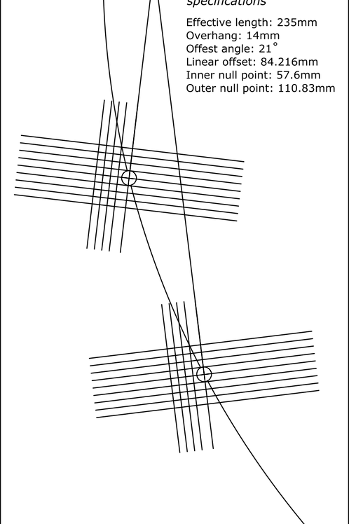 Cartridge Arc Protractor for Sony PU-A7 tonearm