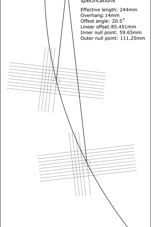 Cartridge Arc Protractor for Denon DA-303 DA-305 DA-307 -DA-309 DA-401