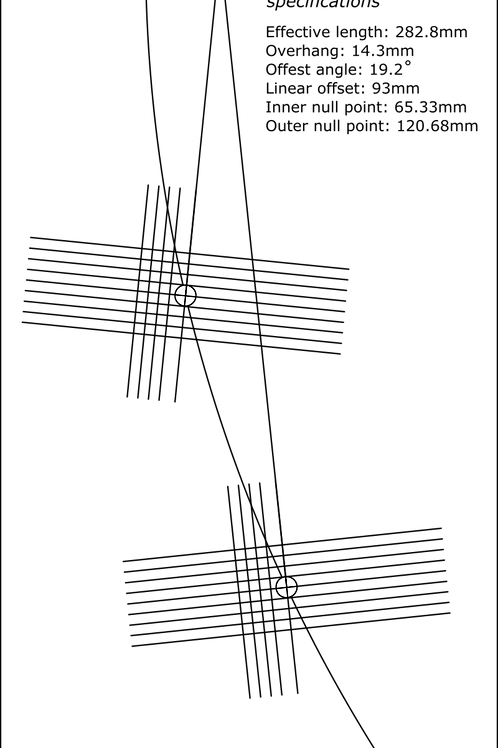 Cartridge Arc Protractor for Pioneer PL-7L PL-70L PL-70LII PL-90 turntables