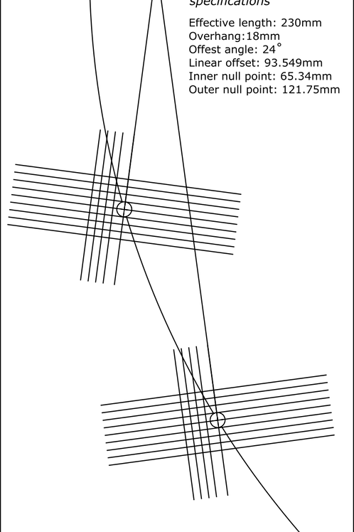 "Cartridge Arc Protractor for Pro-Ject 9 9c 9cc Signature 9"" tonearms"