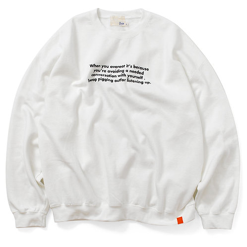 Pray For Your Health Crew Sweat White 20FW-006