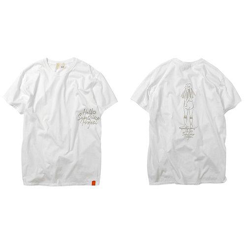 TonyTaizsun × Hello Sunshine Project Shake Hand Tee 20SM-001HSP Wht/Beg