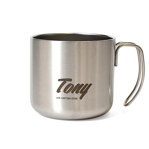 Tony double stainless mug cup Silver 21SP-022