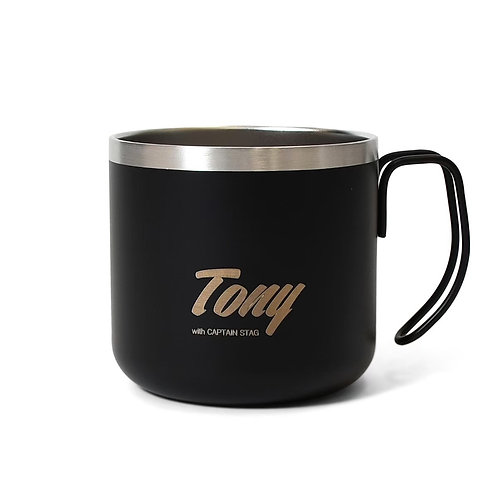 Tony double stainless mug cup Black 21SP-022