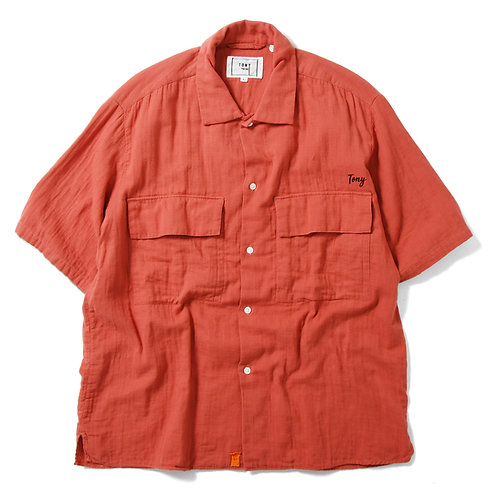Rolling Double Gauge Shirts Orange