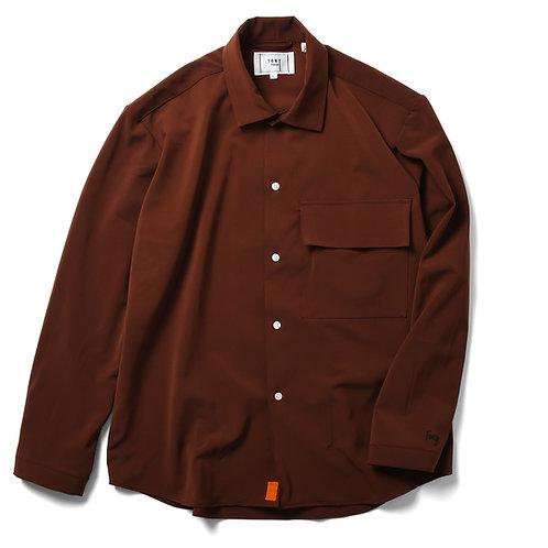 Balzary big pocket shirts Brown
