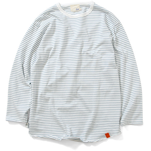 Seaside Boarder L/S tee 20FW-007 White×Gray