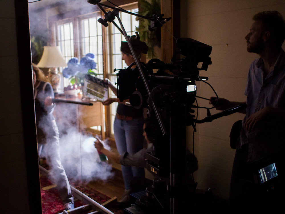 Seconds before rolling during the climactic house sequence