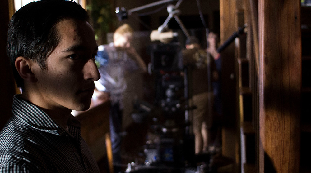 Bryan Tan and crew on the set of ANOMIE