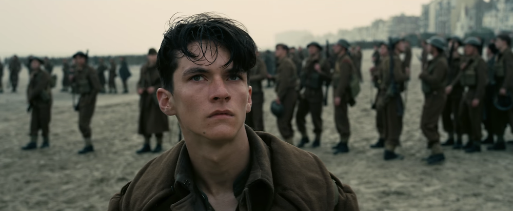 Fionn Whitehead in Dunkirk, Warner Brothers