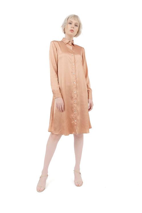 MIA SILK SHiRT DRESS