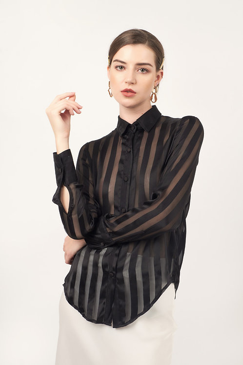 SCARLETT SHEER 100% SILK SHIRT