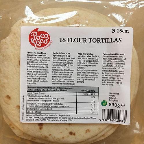 """Flour Tortillas """"Poco Loco"""" 15 cm 18 pieces"""