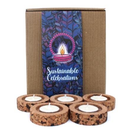 Cork candle gift box
