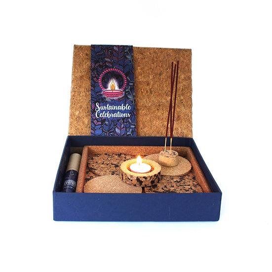 Cork candle & incense set