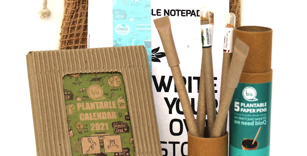 Plantable calendar + stationery combo
