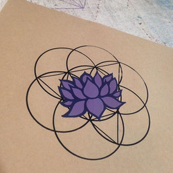 Just pulled this #purple #lotus #goemetric piece from the press