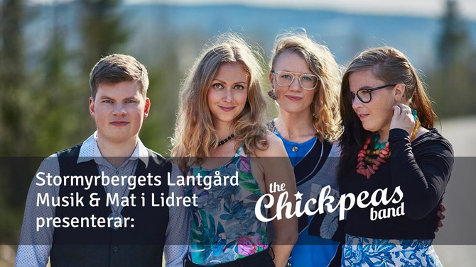 Musik & Mat i Lidret 7 juli: The Chickpeas band!