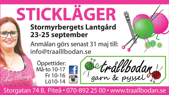 Stickläger 23-25 september 2016