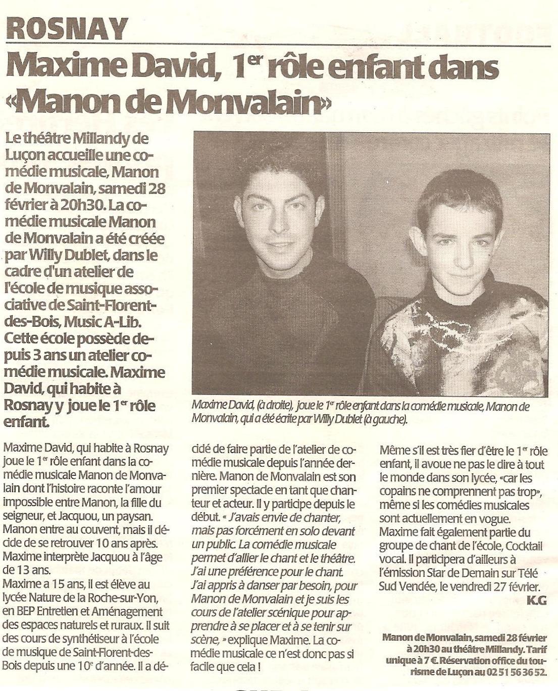 Article Manon de Monvalain