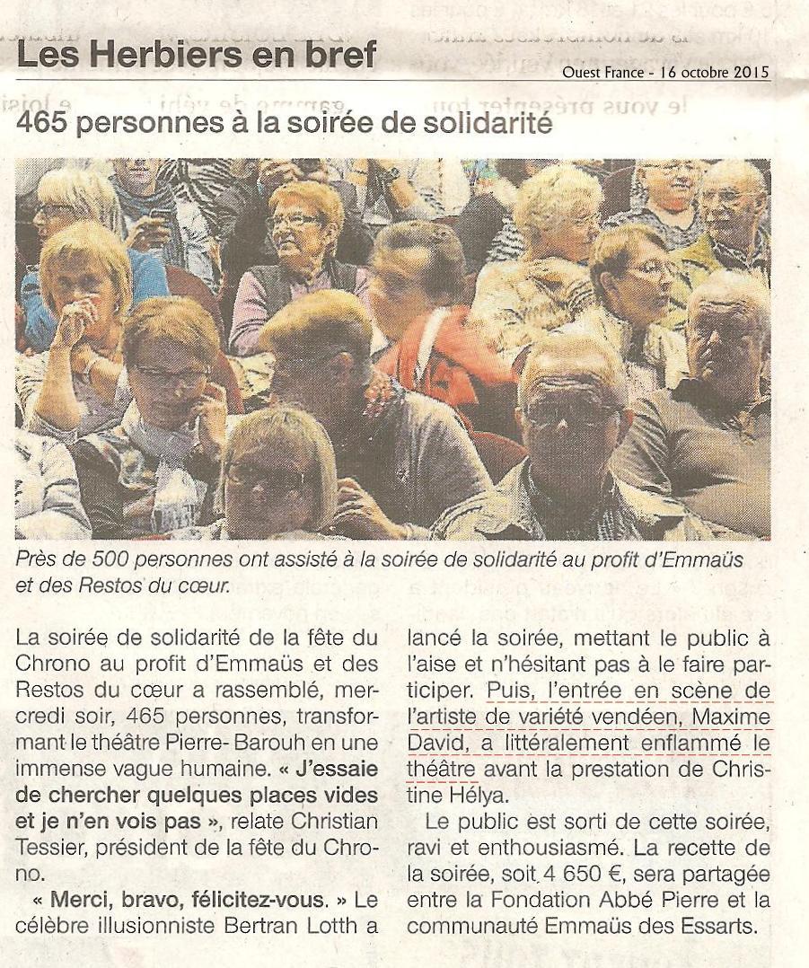 Ouest France - 16 octobre 2015