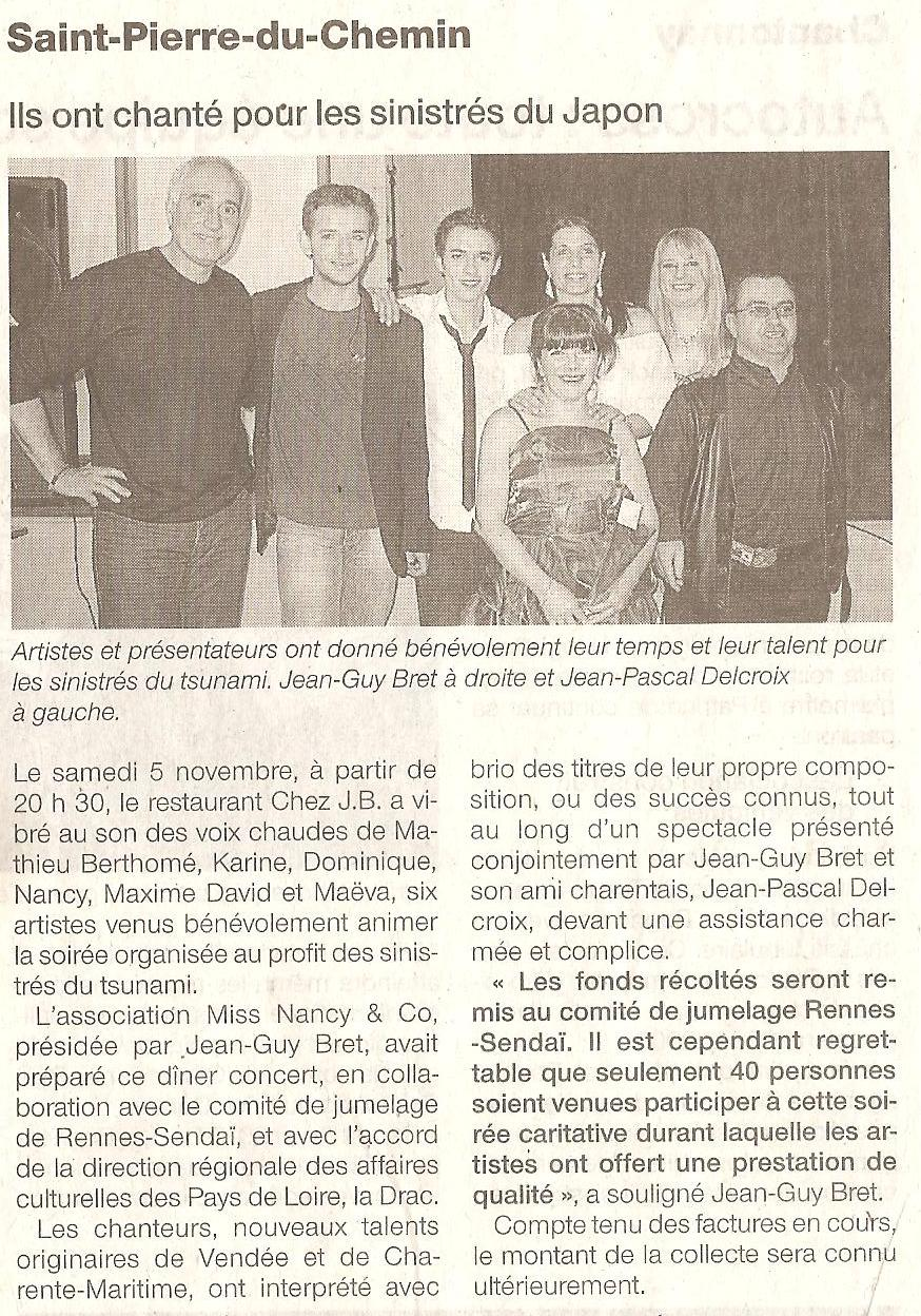 Article concert Japon
