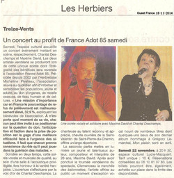Ouest France 18-11-2014