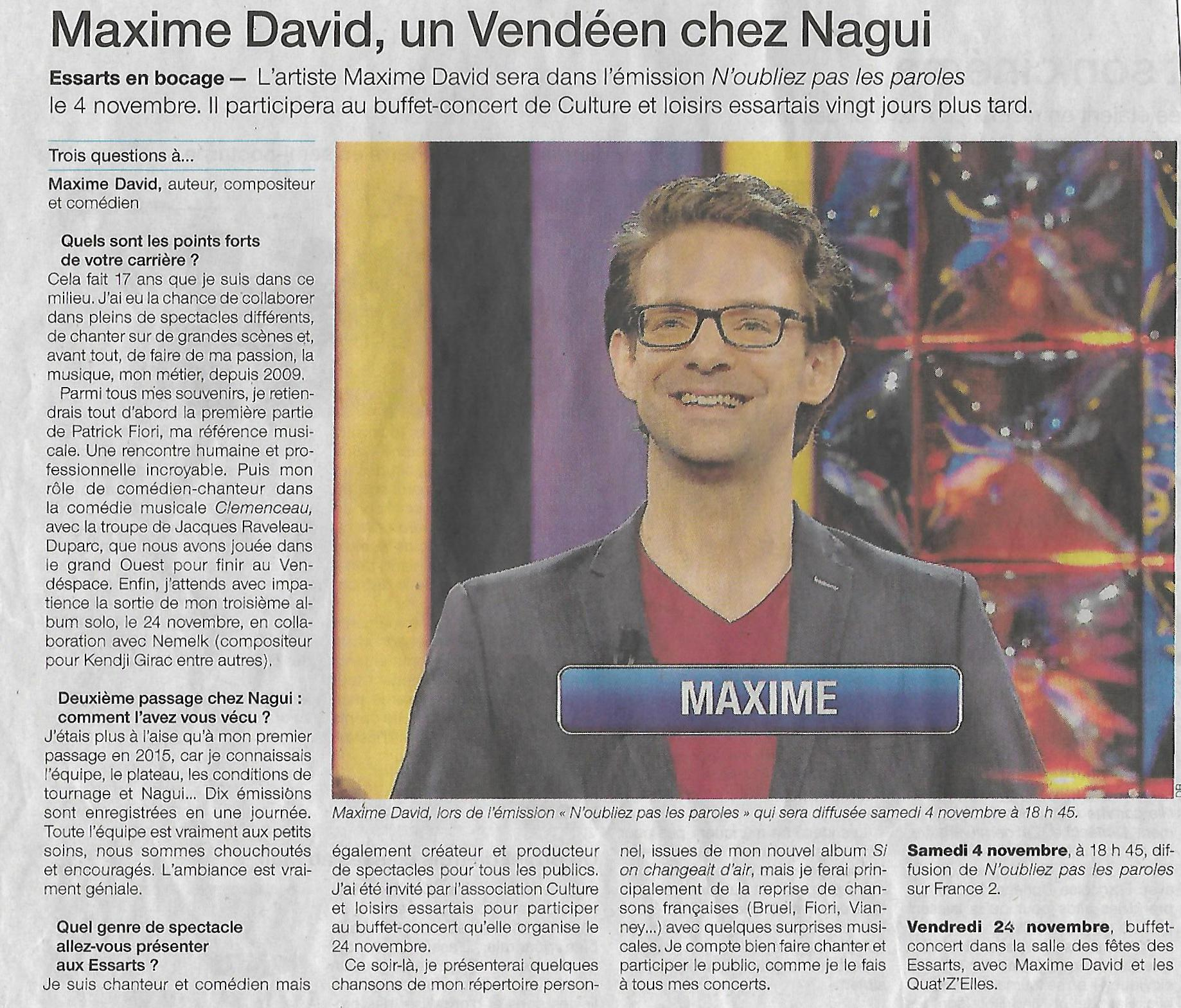 Ouest France 30-10-2017