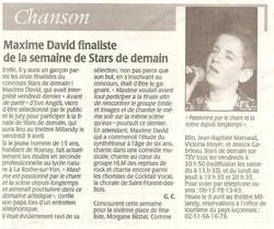 Article finaliste SDD 2004
