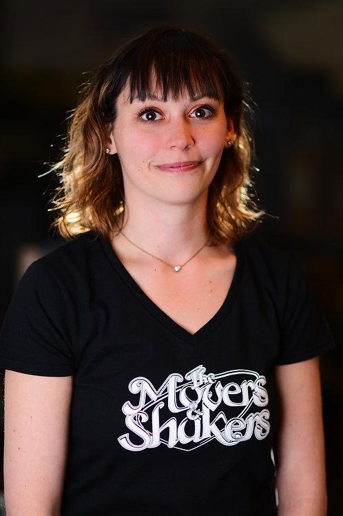 Women's V-Neck Diner Logo T-Shirt