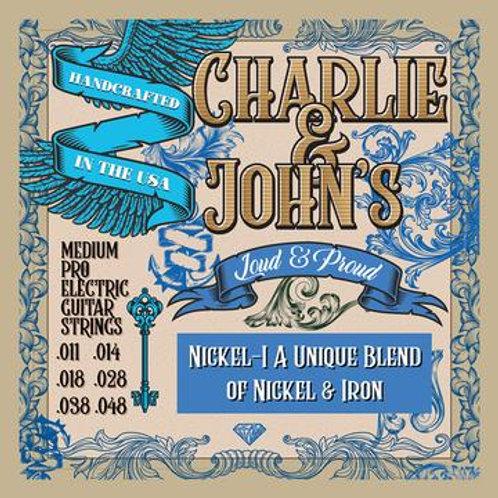 Charlie & John's Medium Pro Balanced Electric Guitar Strings