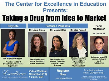 Don't Miss CEE's Event Featuring Distinguished Scientists Taking a Drug From Idea to Market