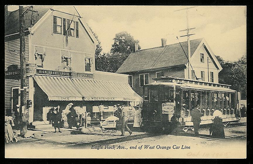West Orange NJ Trolley Vintage History 1906