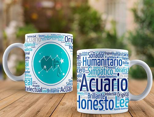 Tazas Signo Zodiacal Acuario