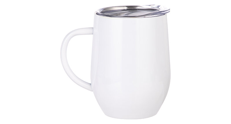 Taza 12oz  Stainless Steel  Con Handle Blanco
