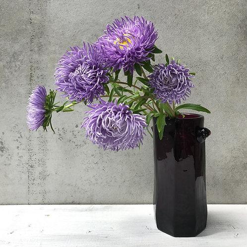星耕硝子 羊耳付き花瓶