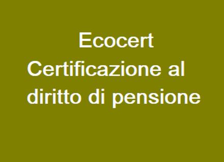 Ecocert - Certificazione al diritto di pensione