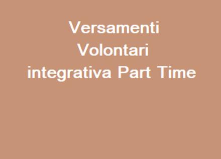 Versamenti Volontari Integrativa Part Time