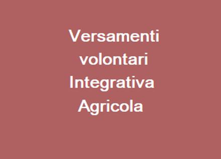 Versamenti volontari Integrativa Agricola