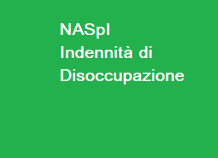 NASPI - INDENNITÀ MENSILE DI DISOCCUPAZIONE