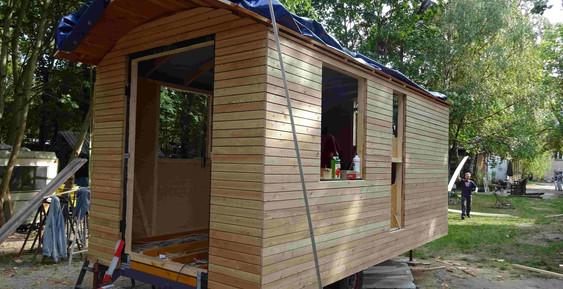 Wohnwagen aus Holz