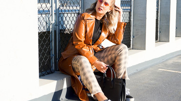 Topshop Trench & HM Plaid