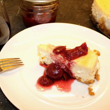 Meritage & Cherry Compote Cheesecake