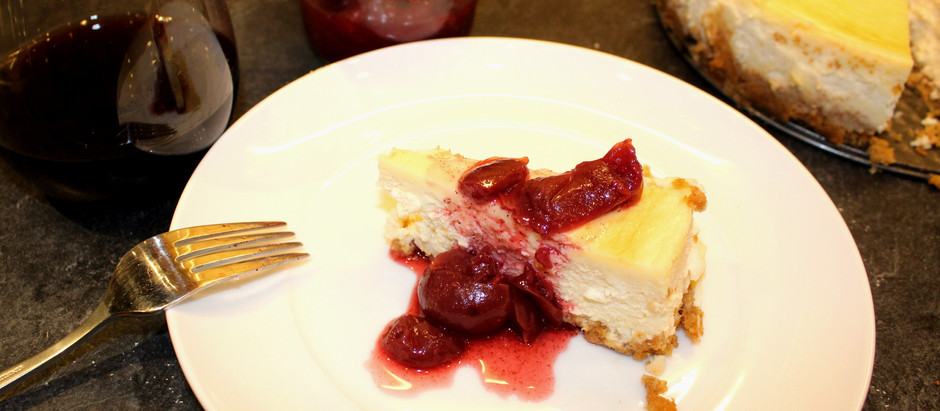 Meritage & Cherry Compote Cheesecake
